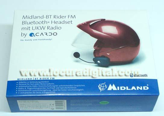 Intercomunicador moto MIDLAND BT RIDER FM