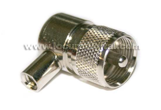 PL Masculino angulado conector