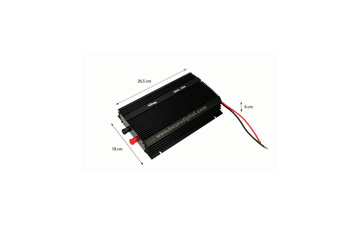 MDC30A HOXIN Conversor DC-DC lineal reductor de voltage 24 - 12 voltios, 30 amperios