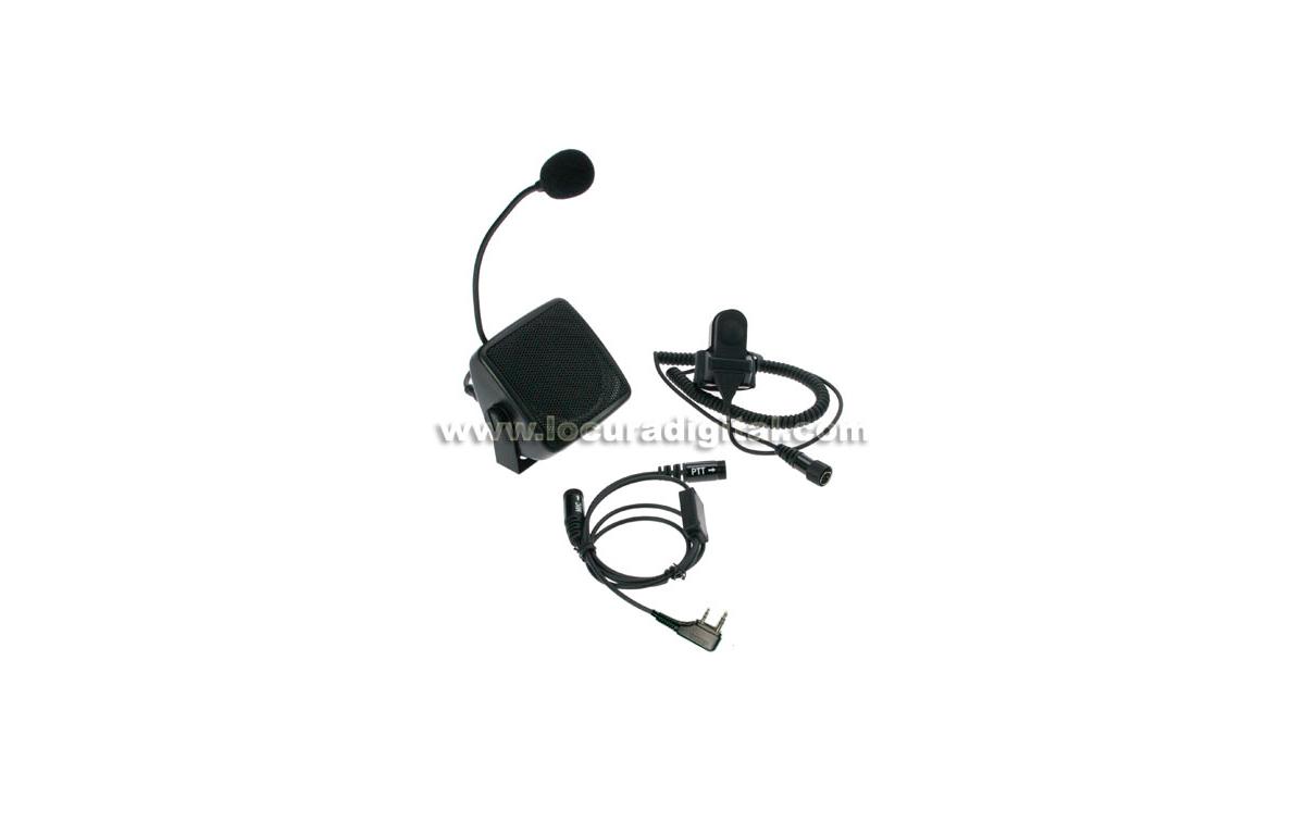 NAUZER ATC5505K Kit manos libres para walkies. Especial Autoescuelas - Conexión Kenwood