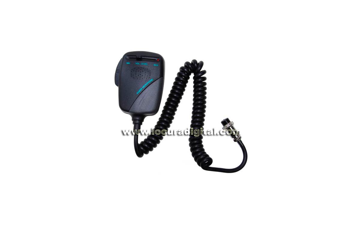 NM-532A6 Micrófono PRE-AMPLIFICADO para emisora de 6 PINS.!! VALIDO PARA PRESIDENT, ALAN48, ALAN 78,