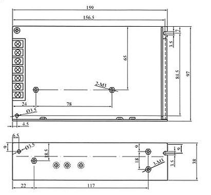 asi10012 lafayette fuente alimentación conmutada industrial 100 w, voltage 12 volts, amperios 8