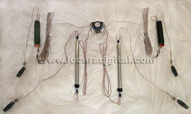 HF Dipole MALCOTT MAD50B5'S 10-15-20-40-80 Meters (total wire length 20 m), 1000 W PEP power