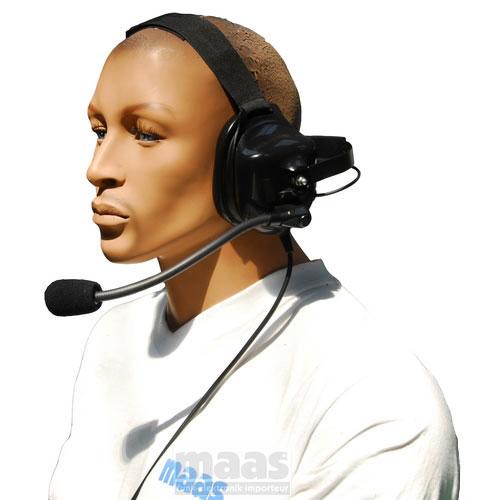 NAUZER HEL880K Micro-Auriculares tipo casco profesional para walkies KENWOOD