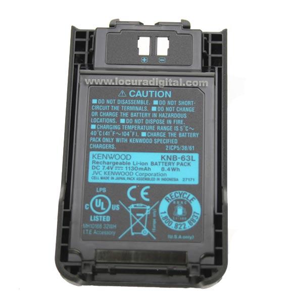 KNB-63LM KENWOOD Li-ion-LITHIUM bateria de 1.130 mA. Para THK20, THK 40, TK2000, TK3000