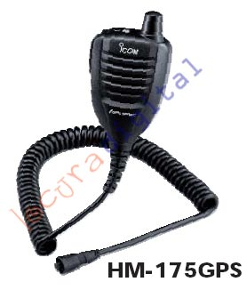 HM-175GPS Microaltavoz of lapel with GPS, IPX7