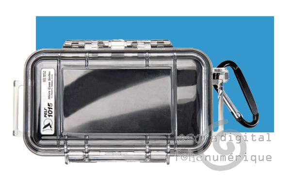 1015-006-100 Micro-Maleta de protección Transparente - Azul