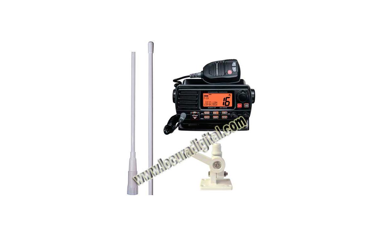 YAESU GX-1500e STANDARD HORIZON. Emisora Nautica. COLOR NEGRO. + Soporte RM1 + Antena MFV-5.