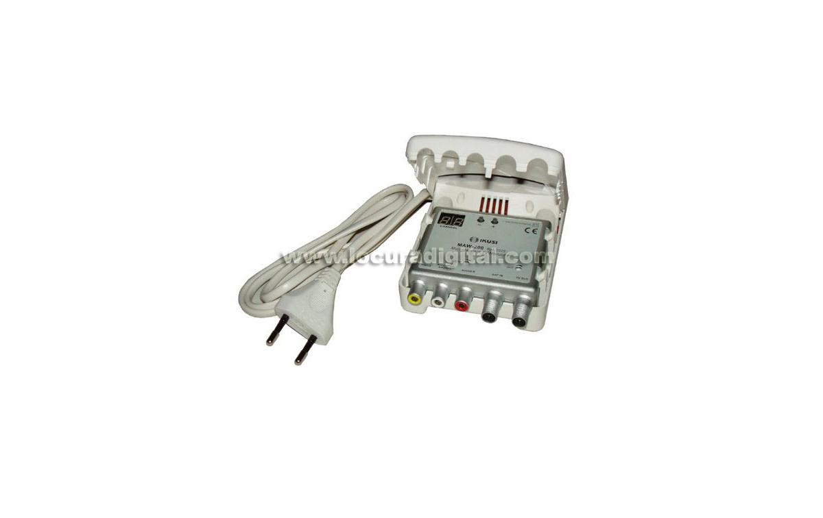 MAW-200 IKUSI modulador TV multibanda VHF/UHF fácil programación con display