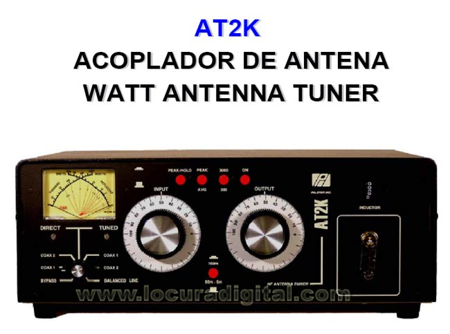 Palstar AT-2K meter Antenna Coupler. 2000 Watts maximum power
