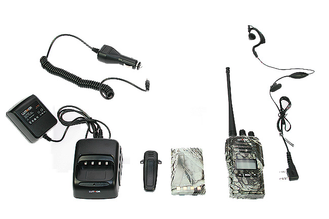 LUTHOR TL88 ELITE KIT1 PROFESSIONAL PMR 446 HANDHELD CAMOUFLAGE GREY COLOURS FOR FREE USE WITHOUT LICENSE. Rubber Earphone FOR FREE. NEW MODEL!!!