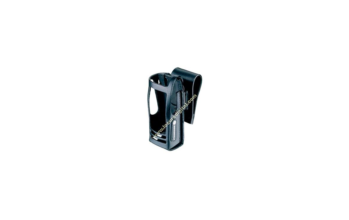 MOTOROLA PMLN5020 Funda cuero dura con lazo cinturón swivel 3'' para Radio con display