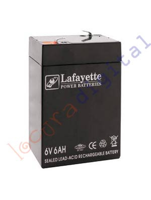660 SW Lafayette RECHARGEABLE LEAD BATTERY VOLTAGE 6 V. Power Sleeps 6 amps. Terminal: T1