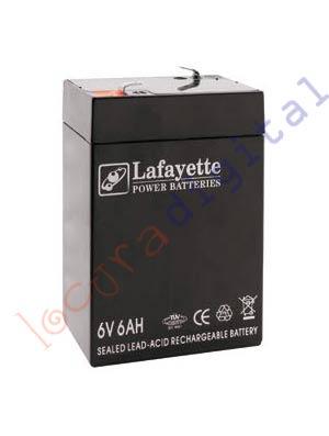 SW 660 BATERIA DE PLOMO RECARGABLE Lafayette Power VOLTAGE 6 V. Capacidad 6 amperios. Terminal: T1