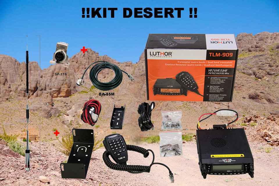 LUTHOR TLM-909KIT DESERT Emisora multibanda 4 Bandas 29/50/144/430 MHZ