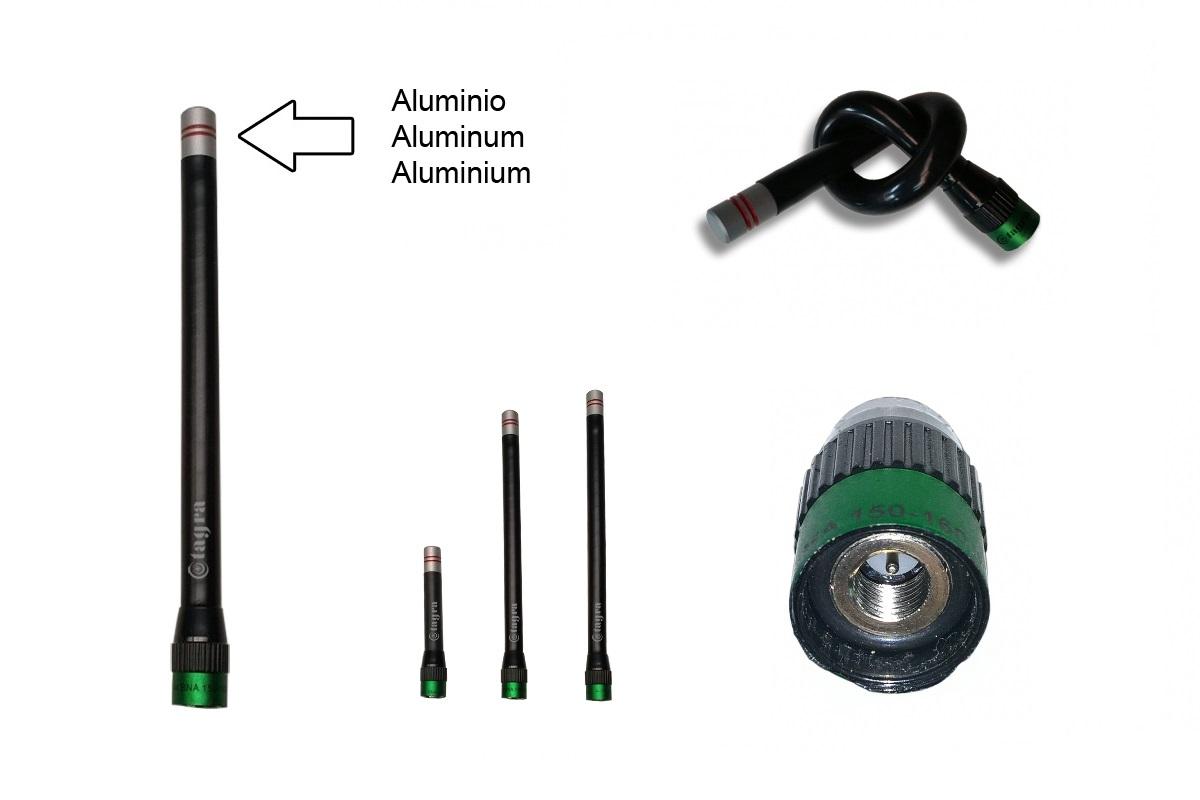 A144SMA Antena para Walkie ultra-flexible conector SMA Frecuencia 140-174 MHz