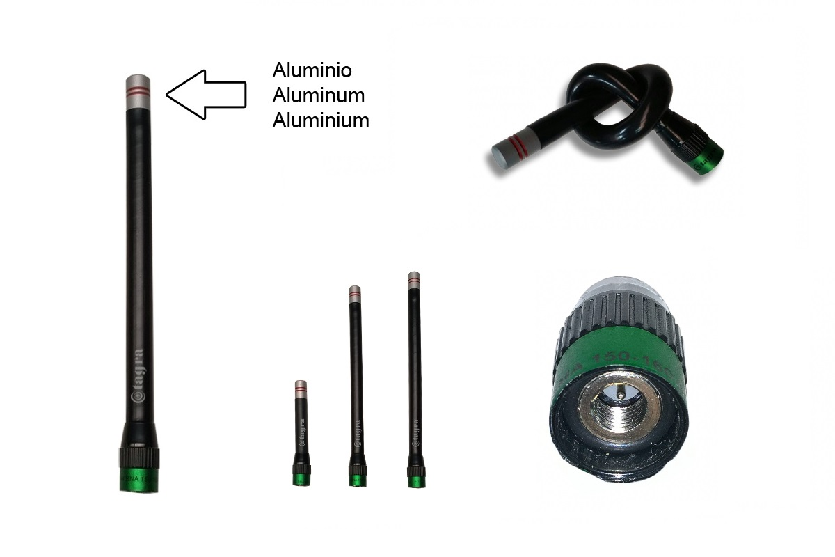 A144SMB Antena para Walkie ultra-flexible conector SMB Frecuencia 160-174 MHz