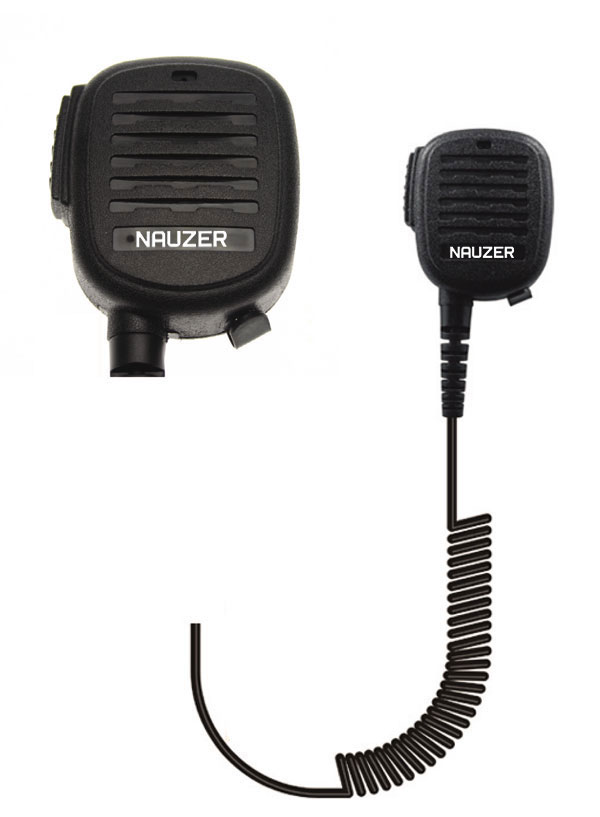 Nauzer MIA120-N1. High quality microphone-loudspeaker with large PTT button. For TETRA - TETRAPOL NOKIA handhelds