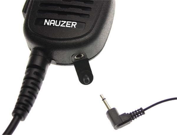 Nauzer MIA120-Y4. High quality microphone-loudspeaker with large PTT button. For YAESU VERTEX handhelds