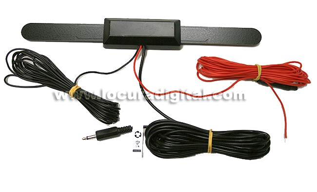 DVBT5 Antena amplificada TDT para interior vehiculo TV digital.