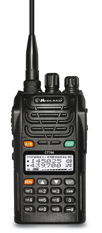 MIDLAND CT-790 DUALBAND VHF / UHF HANDHELD. DTMF / SCAN with CTCSS/DCS tones.