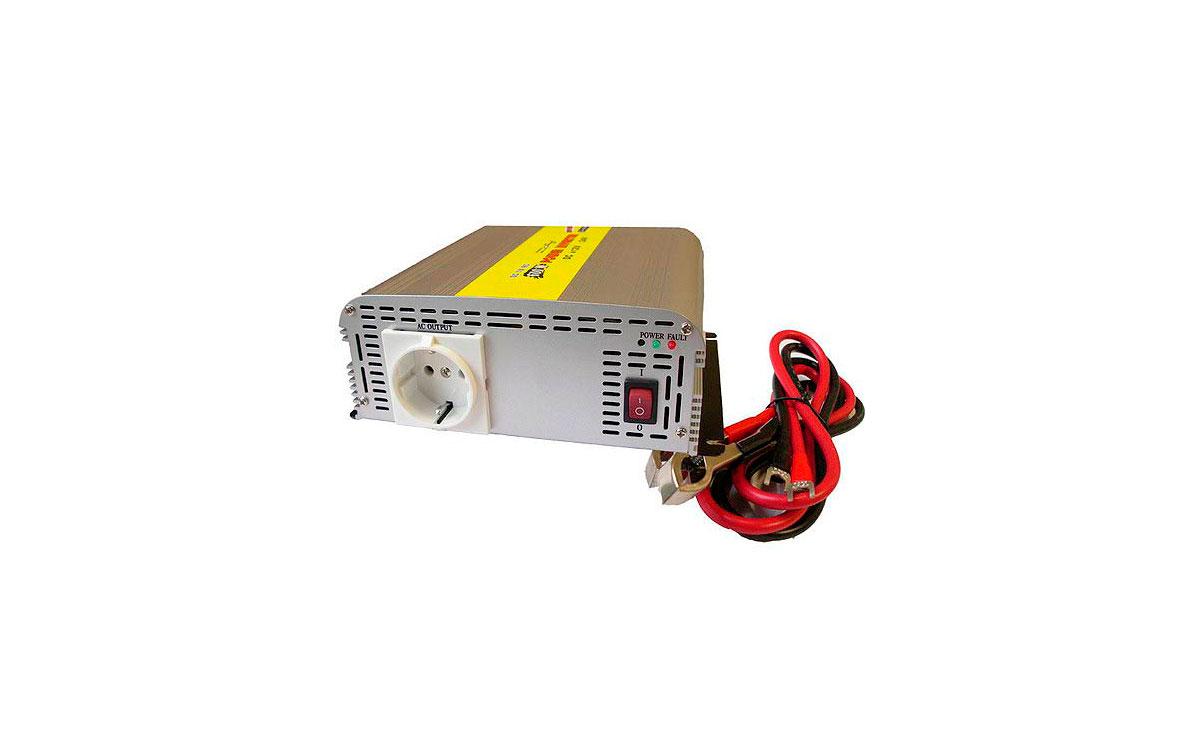 WHS600 24. INVERSOR 24 V. a 220 V. Potencia 600 WAT.
