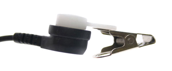 PIN MATSP2. Micro-auscultador DUPLO PTT especial tubular para ambientes ruidosos, uso militar, a seguran?ou industrial. Ideal para monitoramento em clubes, shows, etc ....
