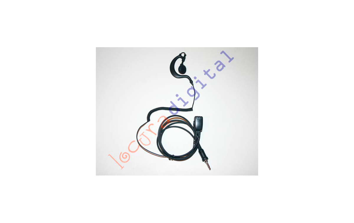 Nauzer PIN-29-Y4. High quality micro-earphone with PTT. For YAESU VERTEX handhelds