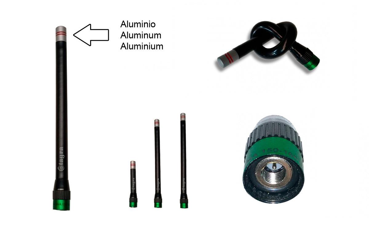 a144sma antena para walkie con conector sma 140-174 mhz