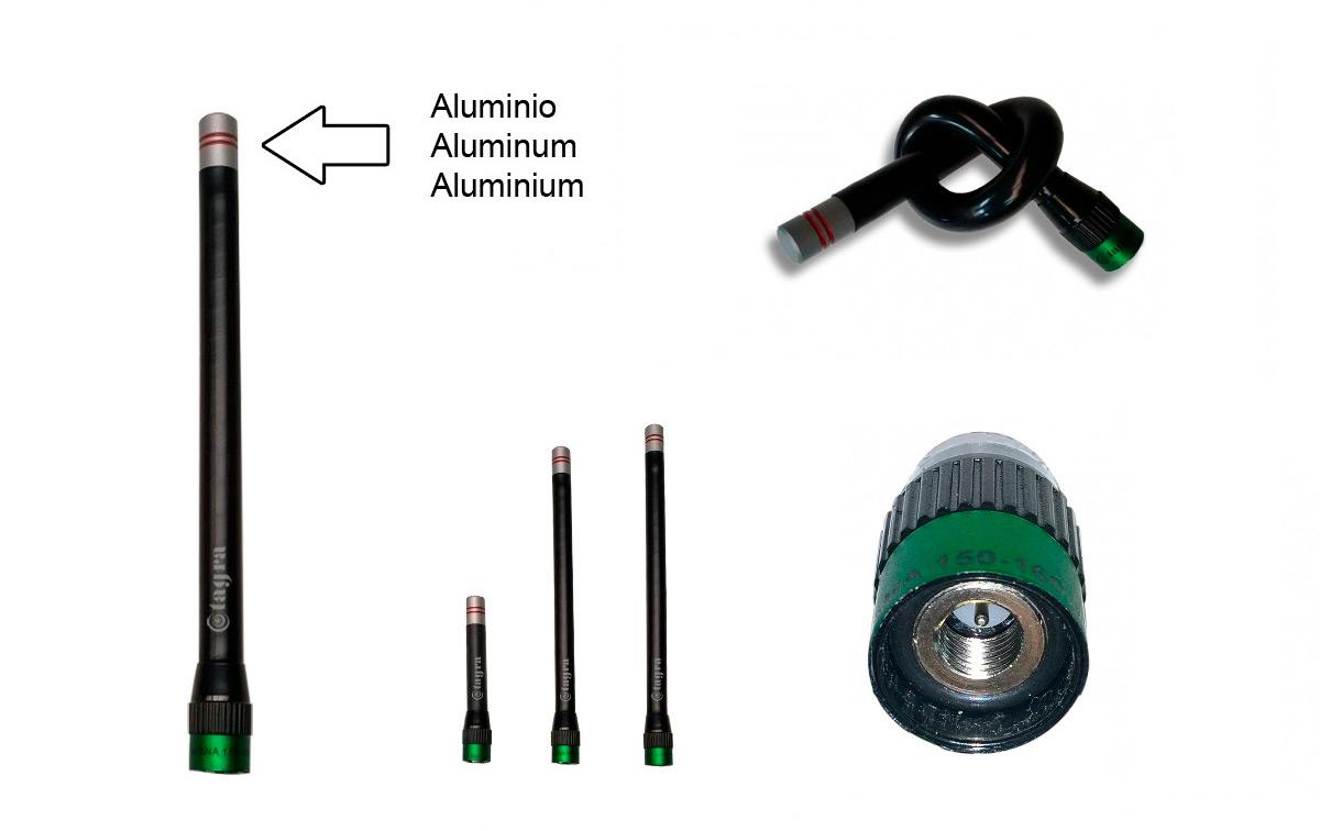 a144smb antena para walkie de vhf 160-174 mhz. conector sma