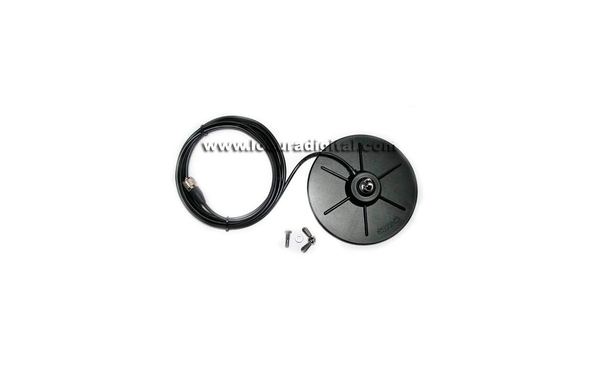 MAG160S Base magnetica 16.5 cm diametro con conector Palomilla
