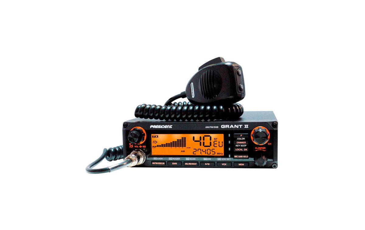 PRESIDENT GRANT II ASC Emisora CB 27 Mhz. AM-FM-SSB
