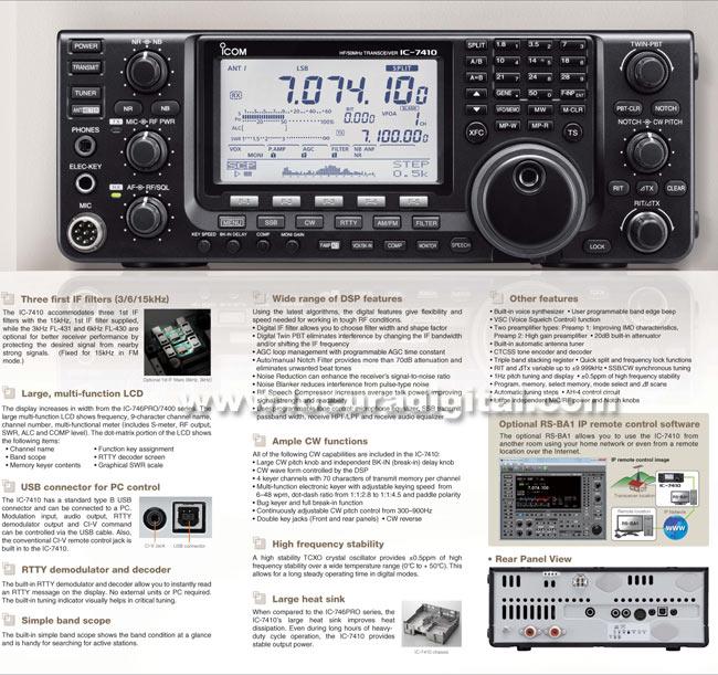 ICOM IC-7410 Transceptor Mhz HF/50
