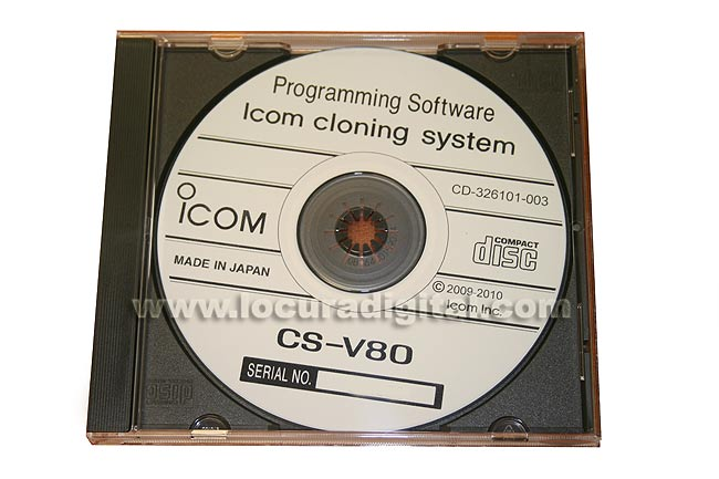 CSV80 ICOM soft de de programación para ICV80E