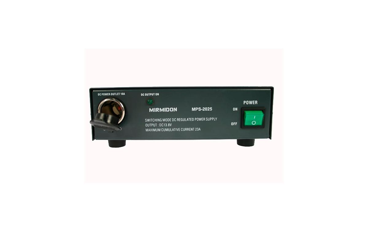 mps2025 mirmidon fuente alimentación conmutada 220volt ac/13,8dc, 25 amp.