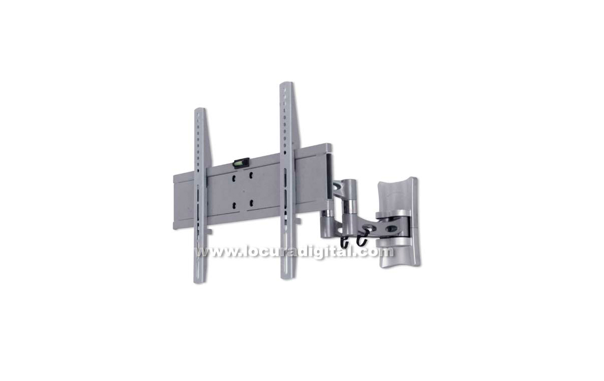 LUNIXPRO 42 Plata - Soporte Orientable e Inclinable para TV plasma y LCD de 26 a 42 pulgadas