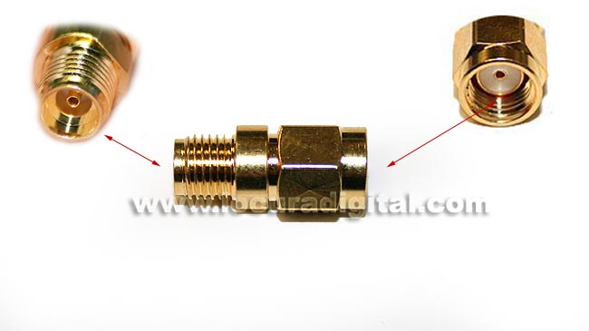 CON3692 Adapter SMA MALE to SMA FEMALE REVERSE standard