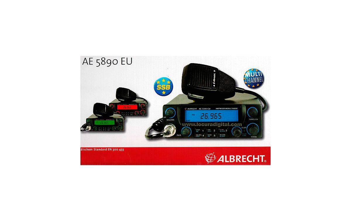 ALBRECHT AE-5890EU  EMISORA CB 27 MHZ CON BANDAS LATERALES !! AM / FM / USB/ LSB !! VALIDA PARA TODA