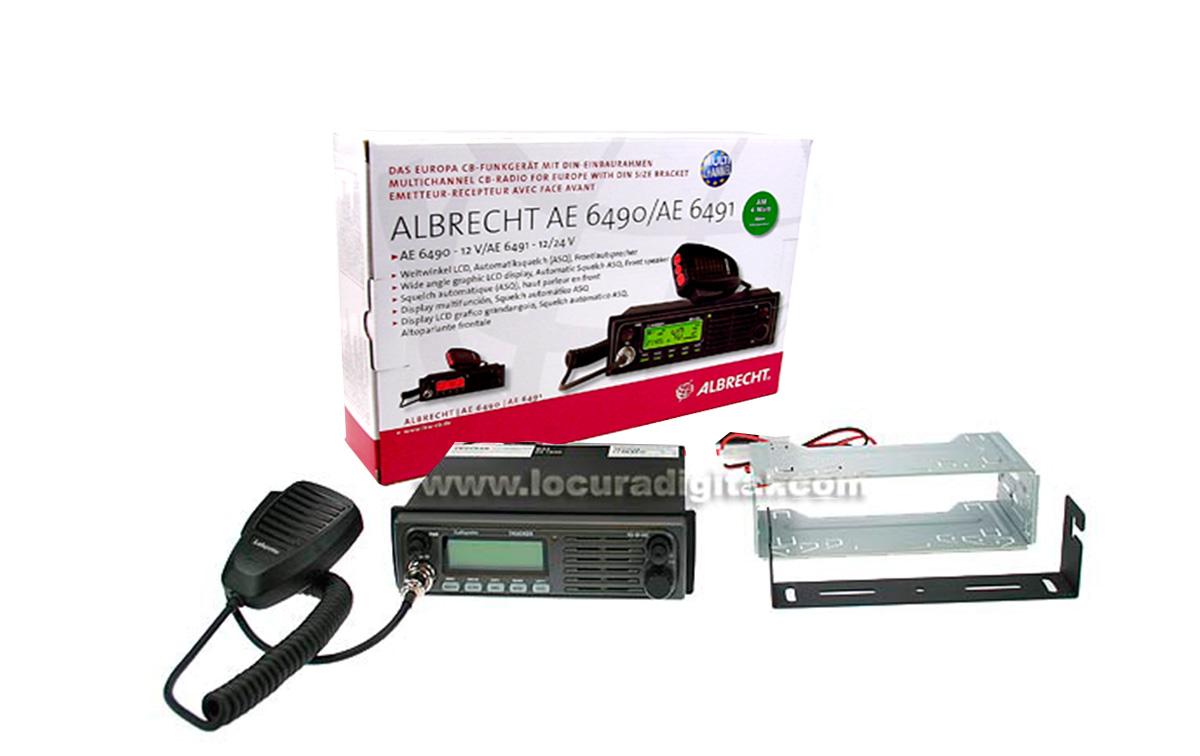 AE6491 ALBRECHT Emisora CB AM/FM 12/24V