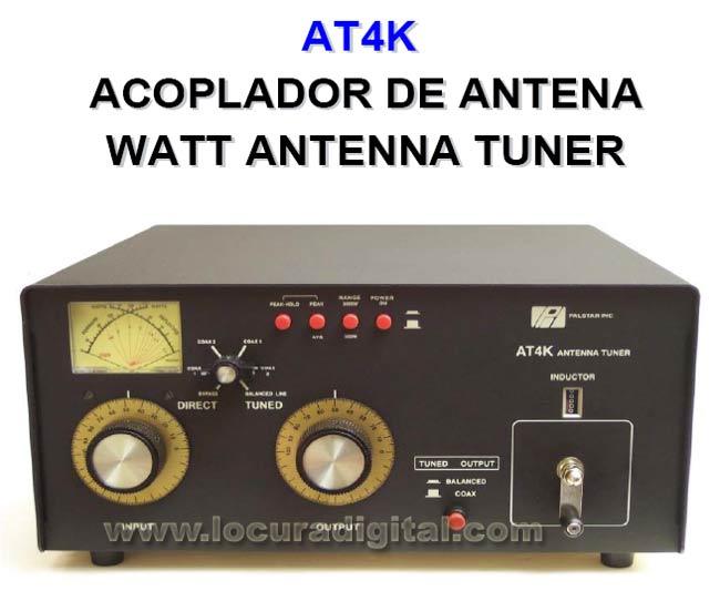 Palstar AT-4 metros K Acoplador Antena. 2500 Watts de pot?ia m?ma