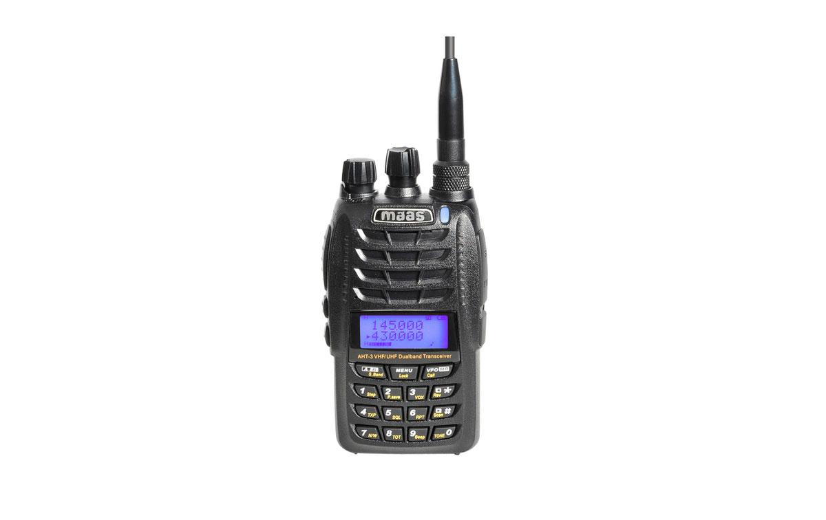 AHT3UV MAAS Walkie doble banda VHF/UHF 144/430 Mhz.