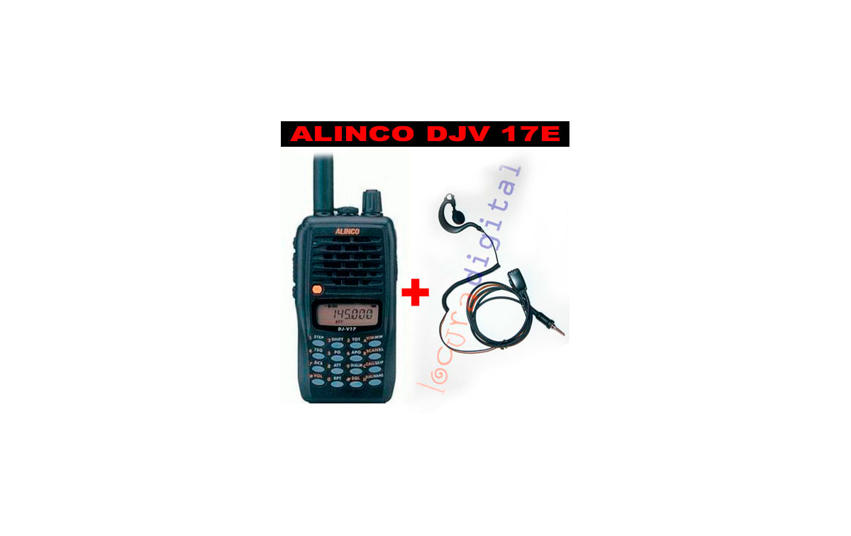 ALINCO Portatil VHF FM 5W  DJ-V17E + !! REGALO DE PINGANILLO  PIN 29 VX7 !!