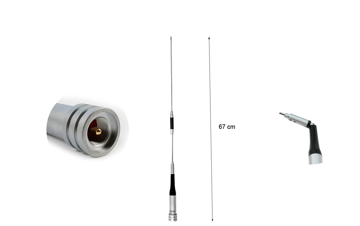 MAAS AM-506 Antena Bibanda VHF (144-146 Mhz.) / UHF (430-440 Mhz