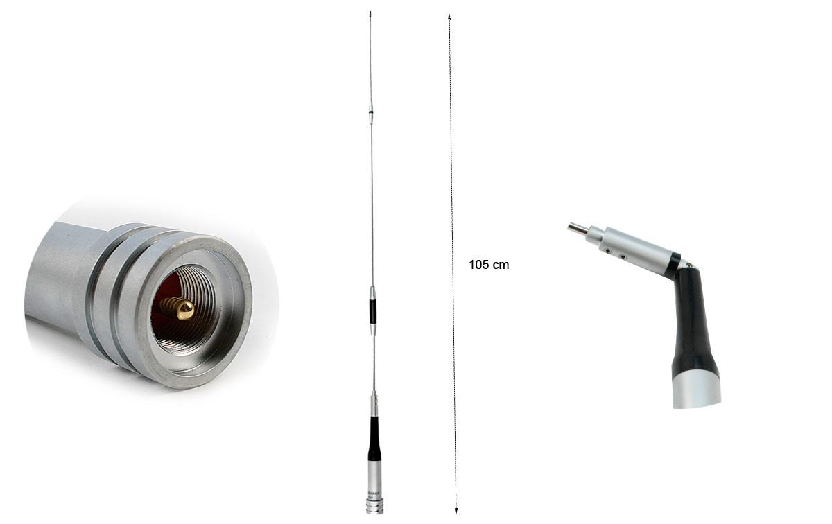 MAAS AM-7500 Antena Bibanda VHF-UHF (144-430 Mhz). 150 watios 10 cm