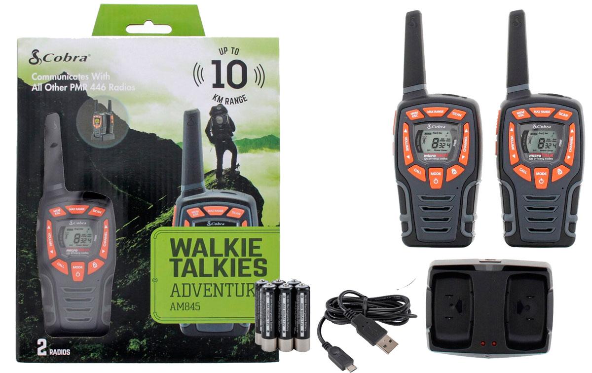 cobra am-845 pareja de walkies pmr uso libre color negro alcance 10 km