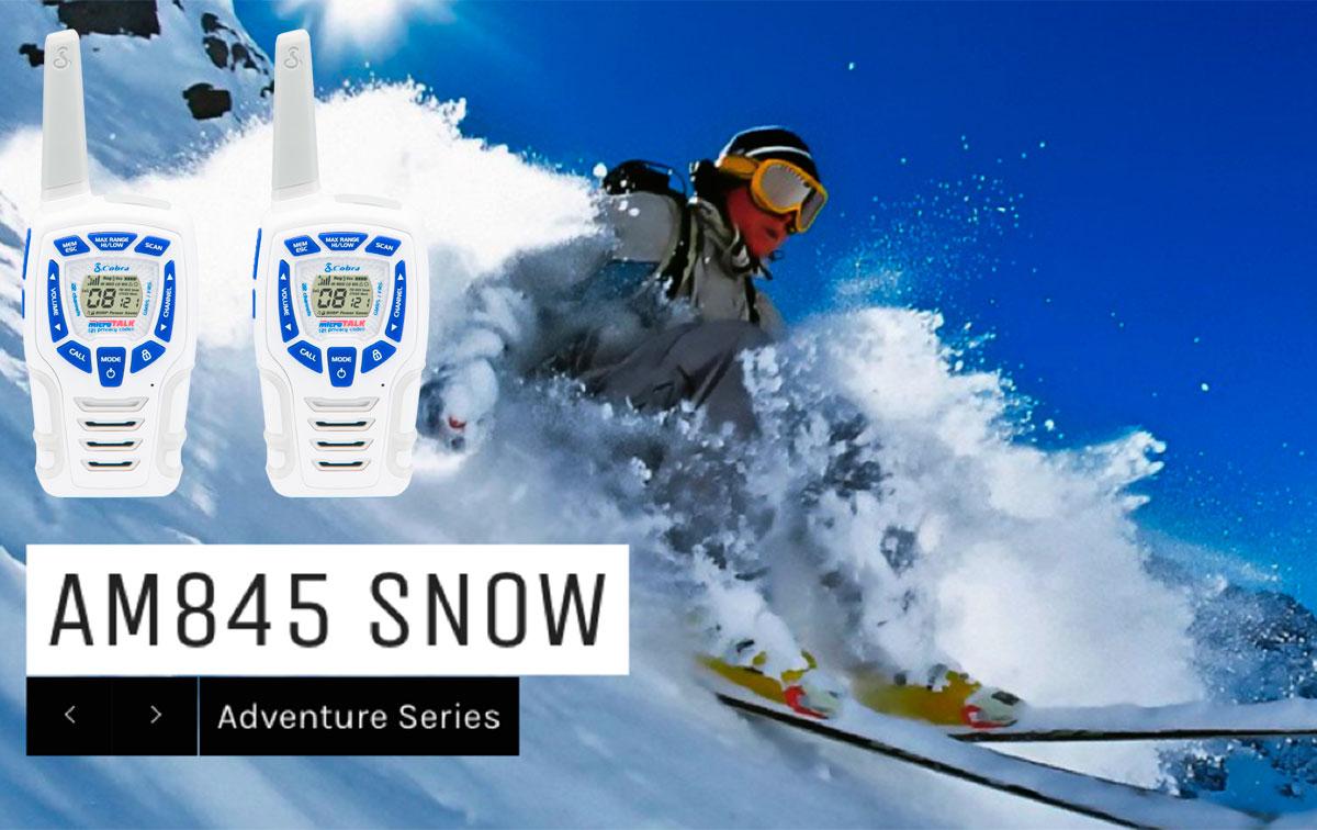 cobra am-845-sn pareja walkies pmr especial para nieve