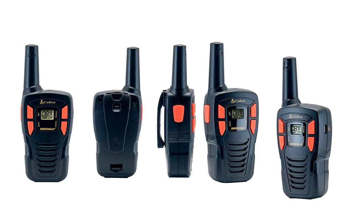 cobra am-245 pareja de walkies pmr uso libre color negro, alcance de hasta 5 kilómetros: diseño compacto y liviano