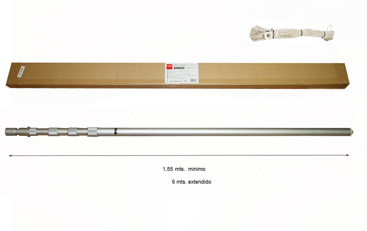 AM-600 DIAMOND Mástil telescópico aluminio 6 metros extendido en 5 tramos