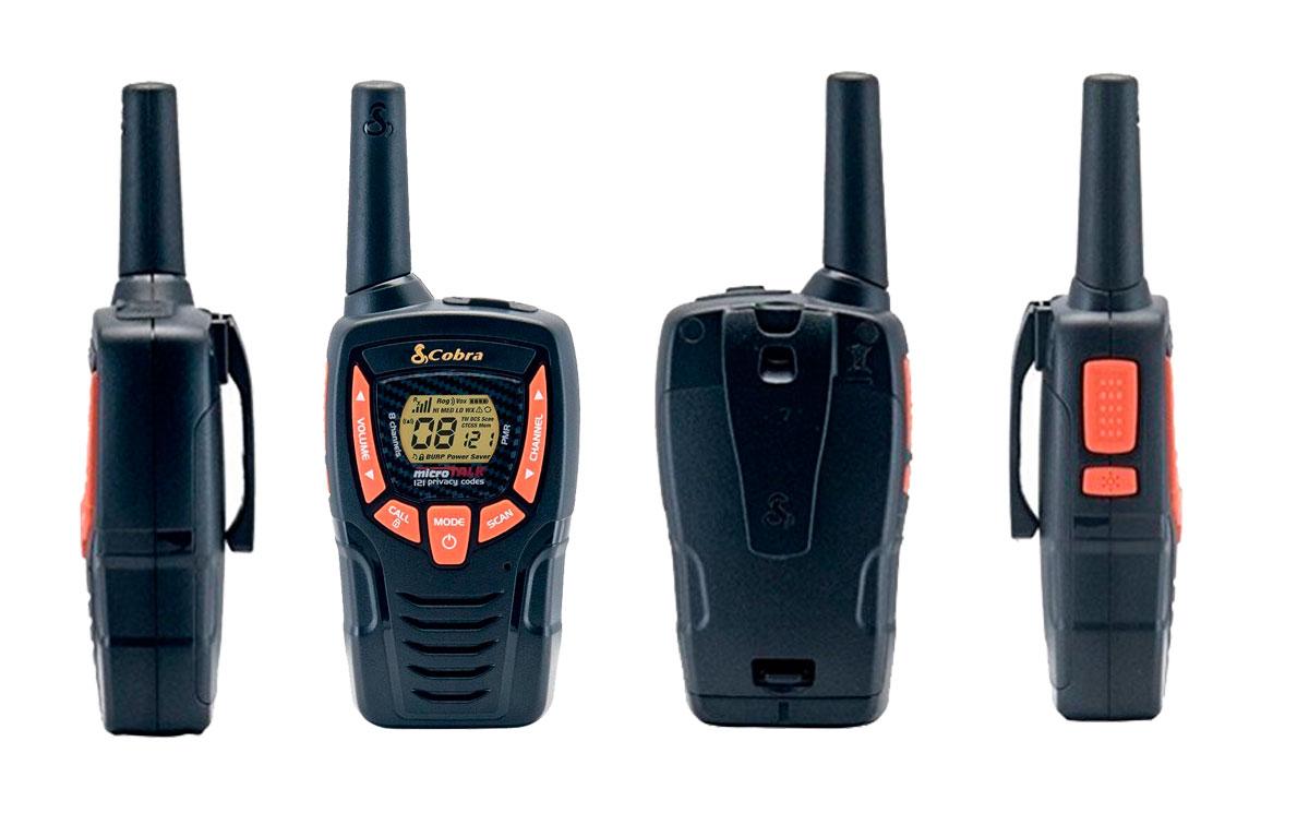 COBRA AM-645 Pareja de walkies PMR uso libre color negro alcance 8 km., Alcance de hasta 8 kilómetros: diseño compacto y liviano