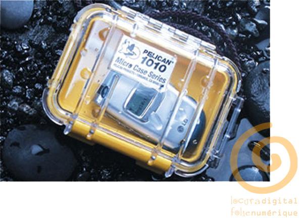 1010-025-100 Micro-Maleta de protección Transparente - Negro